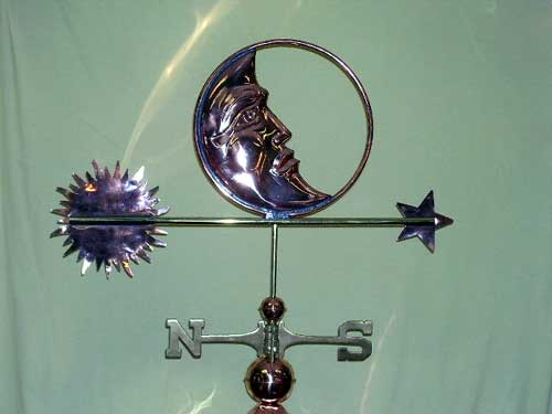 "Sun Moon Star Weathervane -- Order# CT210 -- $295 -- Size: 34""Lx20""H"