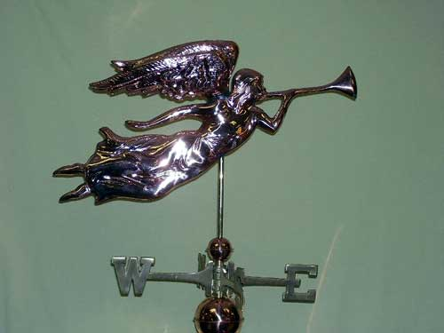 "Angel Weathervane -- Order# GD630p -- $295 -- Size: 27""Lx13""H"