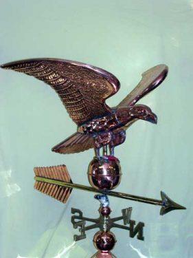 "36"" Eagle Weathervane -- Order# GD 956P -- $1,250 -- Size: 43"" Lx27""Hx36""W"