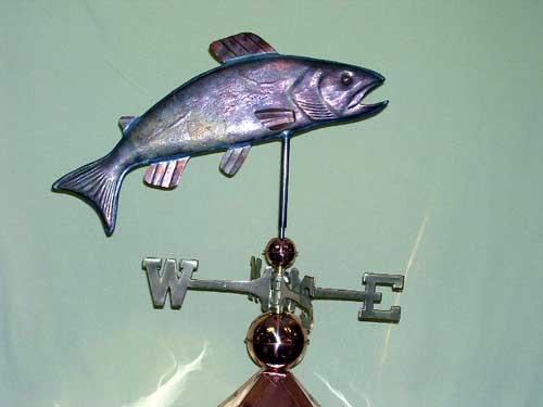 "Trout Weathervane -- Order# HM 107 -- $445 -- Size: 22""Lx14""H"