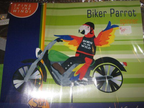 Biker Parrot Spinner