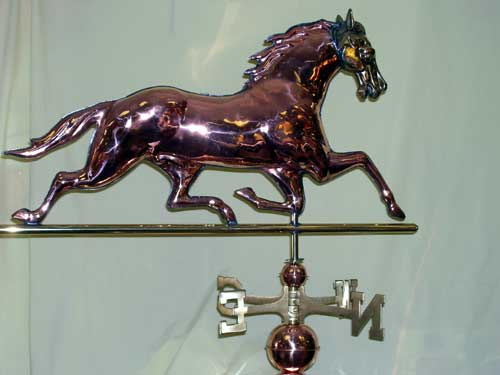 W229P Brass Headed Horse $395 33Lx18H