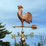 """Rooster Weathervane -- Order# WF2015 -- $295 -- Size: 21""""L X 19""""H"""