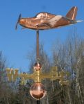 "Low Wing Plane Weathervane -- Order# WF399 -- $345 -- 16""L X 14""H X 21""W"