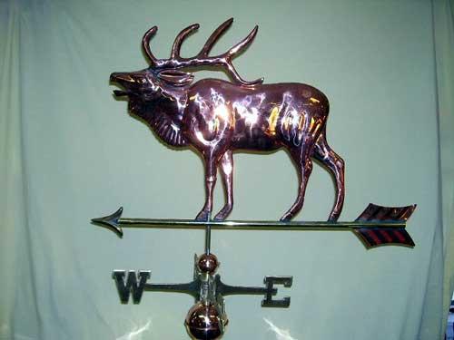 "Elk Weathervane -- Order# WV325P -- $345 -- Size: 27""L x 23""H"