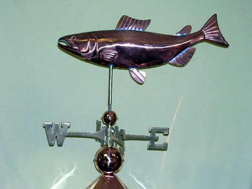 "Salmon Weathervane -- order# CT208 -- $265 -- Size: 24""Lx13""H"