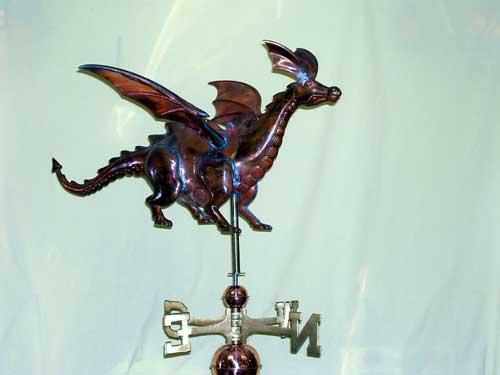"""Dragon Weathervane -- Order# CT446 -- $385 -- Size: 30""""L x 15""""H x 20""""W"""