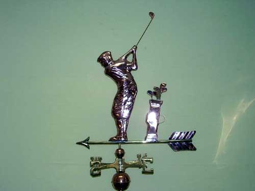 "Golfer Weathervane -- Order# GD561p -- $295 -- Size: 25""Lx29""H"