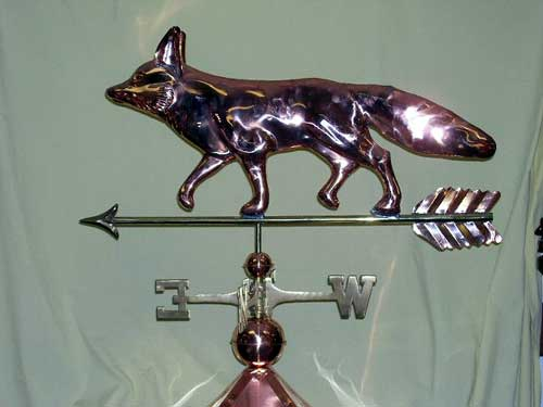 "Fox Weathervane -- Order# GD655p -- $325 -- Size: 31""Lx19""H"