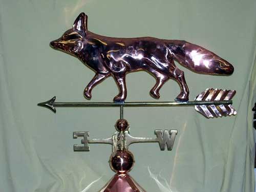 "Fox Weathervane -- Order# GD655p -- $325 -- Size: 31""Lx19""H"
