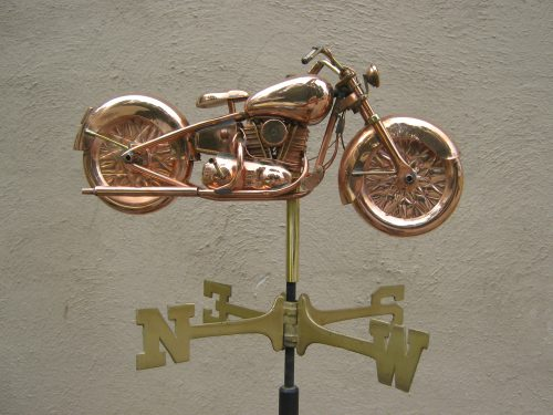 "Motorcycle Weathervane -- Order# GD669p -- $485 -- Size: 22""Lx12.5""H"