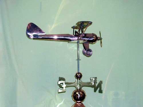 """Bi-Plane Weathervane -- Order# GD9521p -- $345 --Size: 22""""Lx9""""Hx22""""W"""