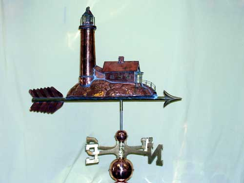 "Lighthouse Weathervane -- Order# GD624P -- $395 -- Size: 27""Lx16""Hx6""W"