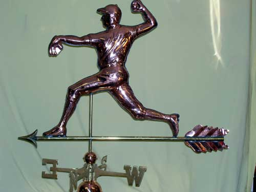 "Pitcher Weathervane -- Order# W272p -- $395 -- Size: 34""Lx25""H"