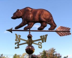 "Bear Weathervane -- Order# WF104 -- $465 -- Size: 29""Lx12""H"
