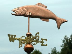"Trout Weathervane -- Order# WF153 -- $345 -- Size: 23""Lx9""H"