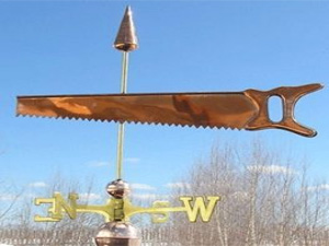 "Saw Weathervane -- Order# WF160 -- $245 -- Size: 24""Lx20""H"