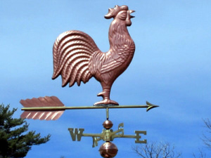 "Rooster Weathervane -- Order# WF2002 -- $365 -- Size: 30""Lx28""H"