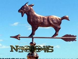 "Goat Weathervane -- Order# WF293 -- $385 -- Size: 22""Lx12""H"