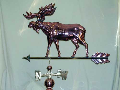 "Classic Moose Weathervane -- Order# WV304p -- $345 -- Size: 35""Lx24""H"