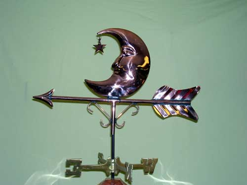 Medium Moon and Star Weathervane -- Order# WV516P -- $165