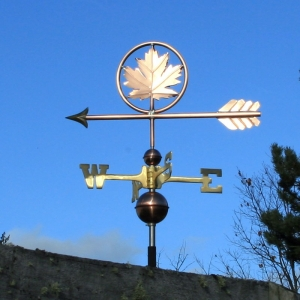 "Maple Leaf Weathervane -- Order# WF389 -- $425 -- Size: 24""L X 13""H"