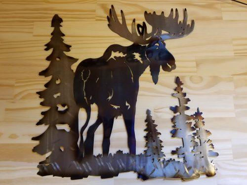 """Moose Metal Wall Art -- $70 -- Size: 17""""L x 17""""H"""