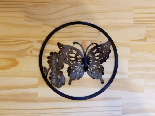 """Small Butterfly Circle -- $20 -- Size: 8.5"""""""