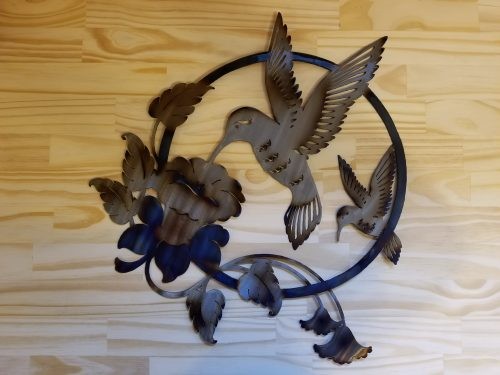 "Lg. Hummingbird Metal Wall Art -- $70 -- Size: 18""L x 20""H"