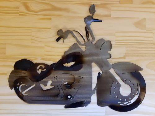 "Motorcycle Metal Wall Art -- $70 -- Size: 19.5""L x 16""H"