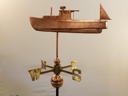 """Lobster Boat Weathervane--Order # WF357--$395-- 20""""Lx15""""H"""