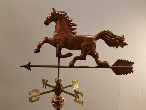 "Horse Weathervane -- Order# WF2001 -- $325 -- Size: 33""L X 17""H"