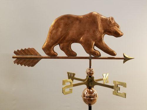 "Bear Weathervane -- Order# WF104 -- $465 -- Size: 31""Lx12""H"