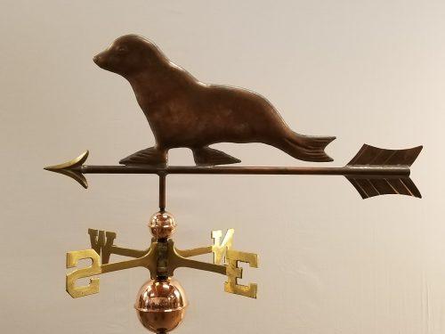 "Seal Weathervane -- Order# CT214 -- $325 -- Size: 29""Lx14""H"