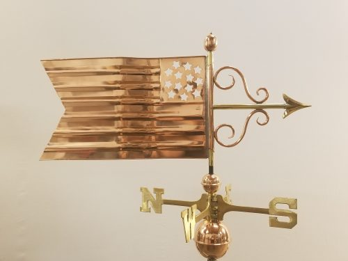 "American Flag Weathervane -- Order# GD667p -- $295 -- Size: 30""Lx15""H"