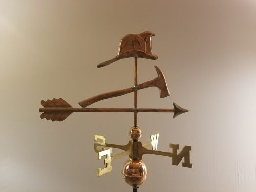 "Fire Hate and Axe Weathervane -- Order# 317 -- $325 -- Size: 24""L X 15""H"