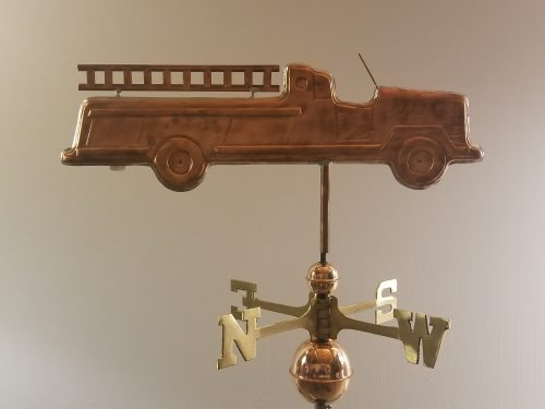 "Fire Truck Weathervane -- Order# WF296 -- $365 -- Size: 27""Lx8""H"