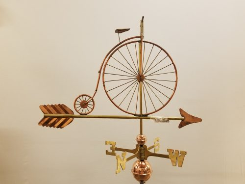 "Bicycle Weathervane -- Order# CT201 -- $325 -- Size: 32""Lx23""h"