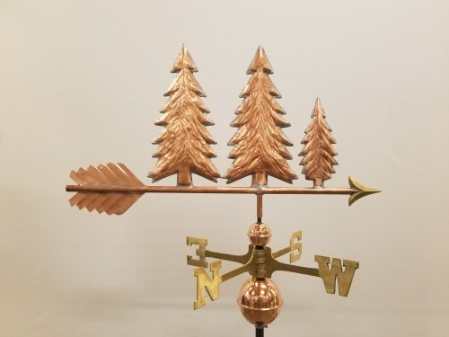 "Pine Trees Weathervane -- Order# WF301 -- $345 -- Size: 27""L x 15""H"