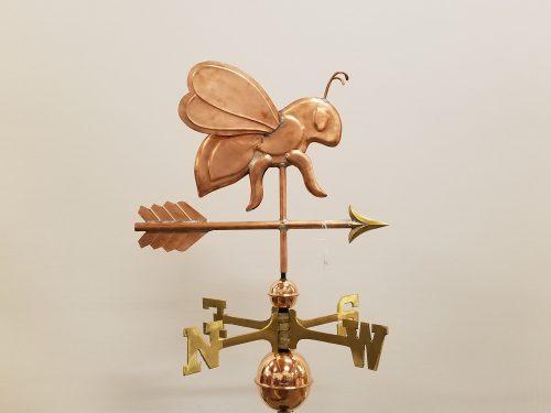 "Honey Bee Weathervane -- Order# WF320 -- $275 -- 18""L x 12""H"