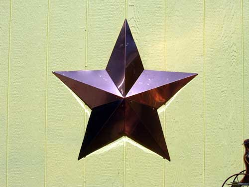 "Copper Star -- 34"" $110 -- 24"" $65"