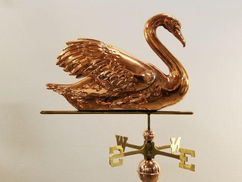 "Large Swan Weathervane -- Order# HM300 -- $345 -- Size: 27""L x 21""H x 8""WS"