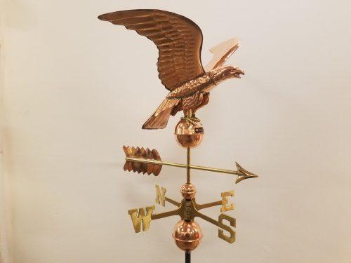 """Eagle Weathervane -- Order# GD955 -- $375 -- Size: 23""""L x 20""""H x 23""""WS"""