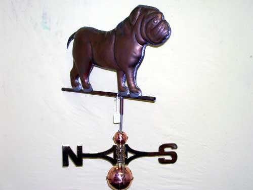 "Bulldog Weathervane -- Order# HM 103 -- $395 -- Size: 23""Lx16""H"