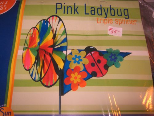 Pink Lady Bug Spinner
