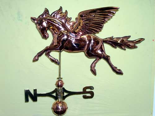 "Pegasus Weathervane -- Order# WV320P -- $485 -- Size: 30""Lx19""Hx26""W"