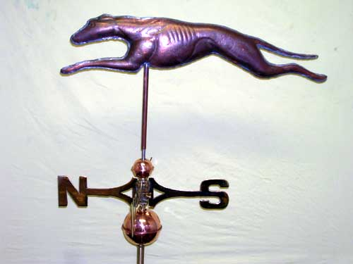 "Greyhound Weathervane -- Order# CT 830 -- $395 #28""L x 7""H"