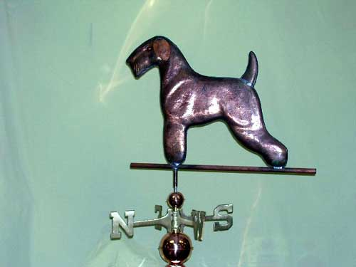 "Terrier Dog Weathervane -- Order# CT314 -- $395 -- Size: 23""L x 18""H"