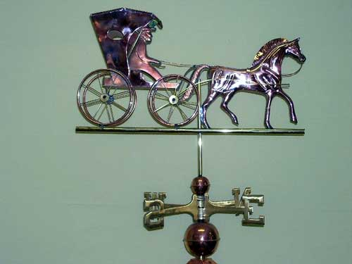"Country Doctor Weathervane -- Order# CT548p -- $345 Size: 26.5""Hx14""Lx5""W"