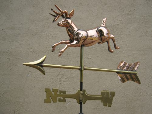 "WV509p Med Jumping Deer $195 Dimensions: 23""Lx12"" Hx3""W"
